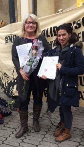 Die Linke Liste Stadträtinnen Marion Padua und Özlem Demir - Für die Gleichberechtigung