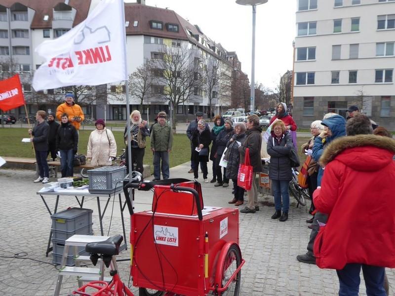 Bild: Linke Liste - Aktion für den Helene-Gruenberg-Park am Frauentag