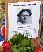 Helene Grünberg Park - Aktion zum Frauentag -Linke Liste Nürnberg
