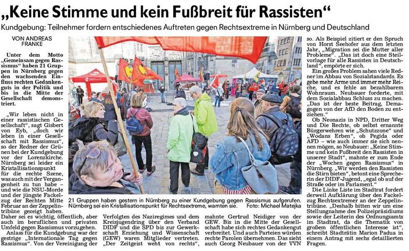 Bild: Antrag an den Stadtrat zur neofaschistischen Kundgebung und Demonstration