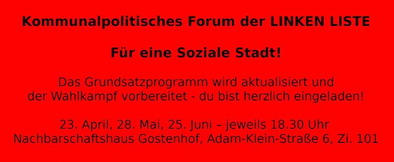 Kommunalpolitisches Forum - Linke Liste Nürnberg